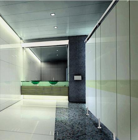 产品简介:洗手间隔断采用具有防水防潮防霉抗菌易清洁,并极其耐磨耐撞的树脂纤维板(俗名抗倍特),再加上上乘的不锈钢等五金配件,根据场所的不同,设计出独特而经典的方案。