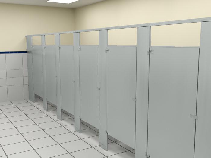 佳丽福专家钻研打造机场洗手间隔断