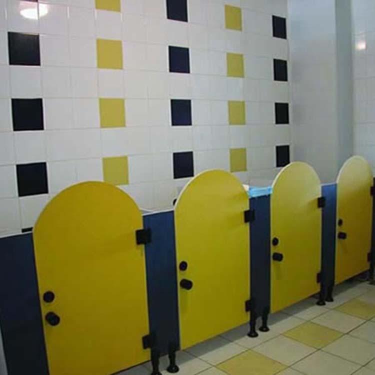 卫生间隔断 按行业分类 幼儿园卫生间隔断 防水儿童厕所隔墙