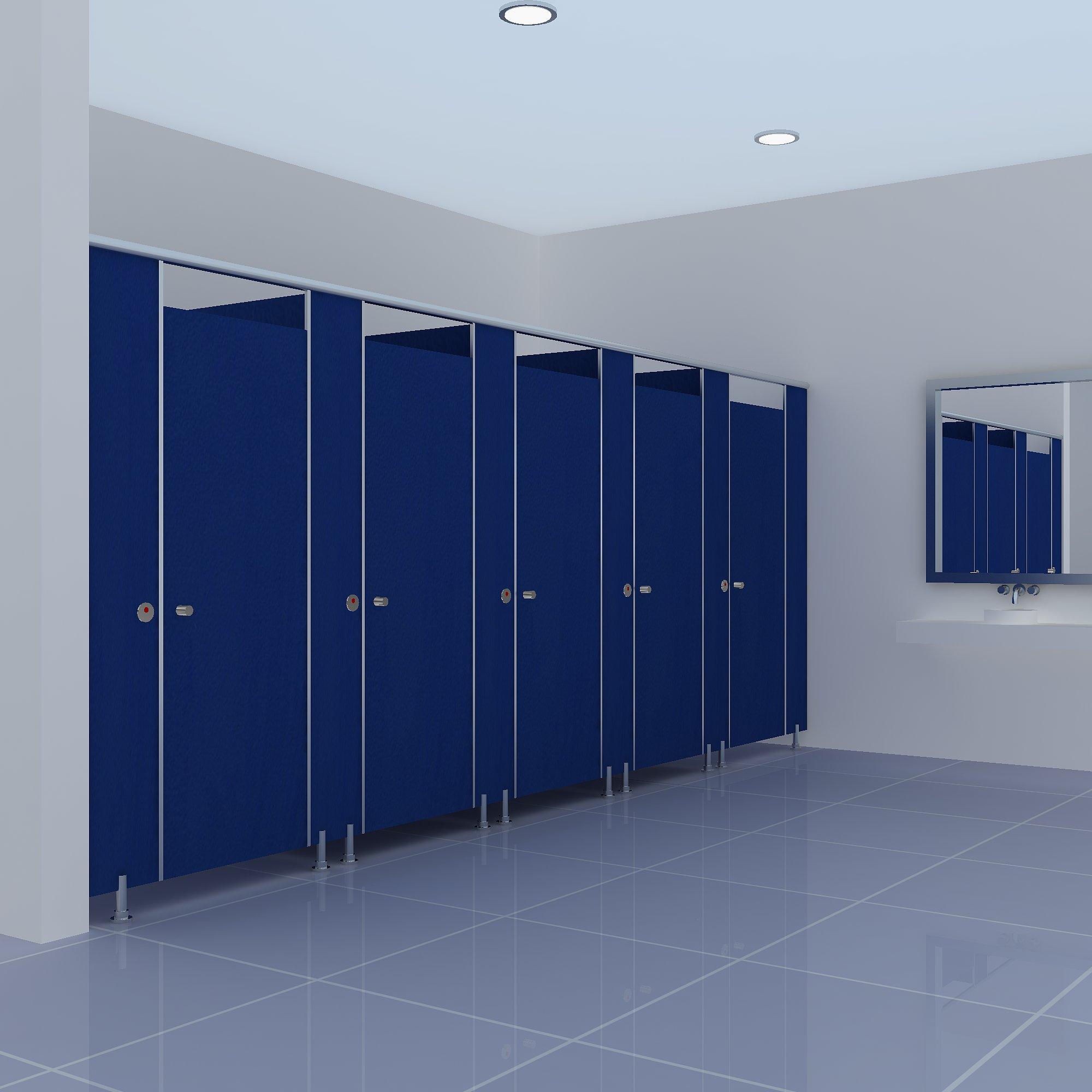蓝色洗手间隔断直销
