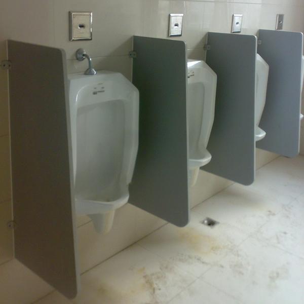 公共厕所小便器挡板