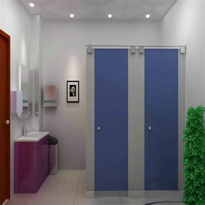 蓝色耐水洗手间隔断