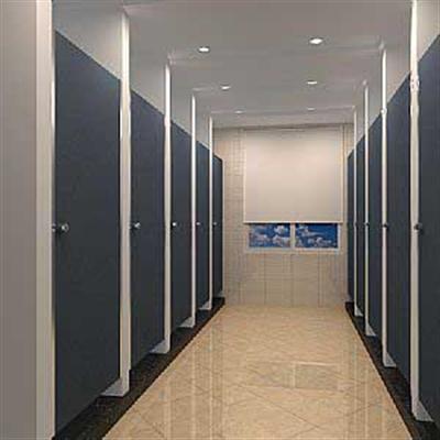 博物馆洗手间隔断
